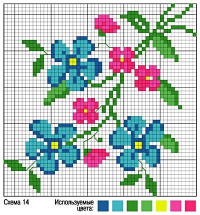 Схемы для вышивки одним цветом для начинающих